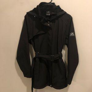 Zeroxposur soft shell hooded jacket black winter